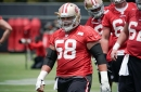 Are the 49ers better, worse, or the same at offensive line from a year ago?