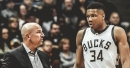 Giannis Antetokounmpo reacts to Jason Kidd's Hall of Fame induction