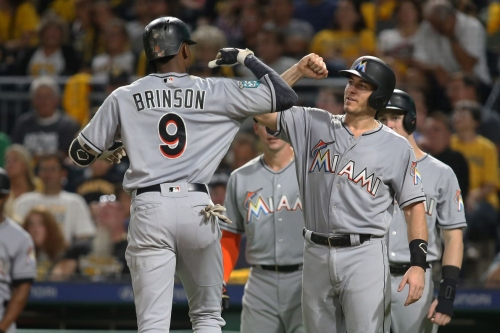 Lewis Brinson delivers big three-run home run, but Fish still fall to the Pirates 5-3