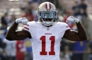 49ers Marquise Goodwin injured in season opener at Vikings