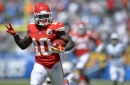 Watch as Tyreek Hill records his first receiving touchdown of the season