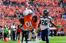 Emmanuel Sanders leaps into the endzone to complete 67-yard touchdown