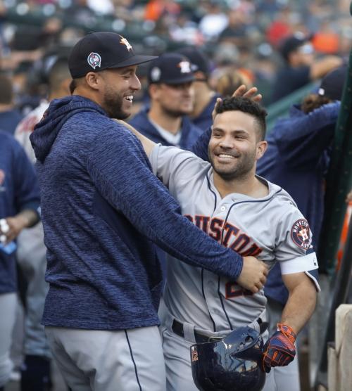 Altuve hits leadoff homer, Astros power past Tigers 5-4