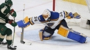 Blues goaltender Jake Allen out at least 10-14 days with back spasms
