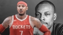 Paul Pierce sees his role on Wizards as model for Rockets' Carmelo Anthony