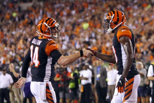 Bengals players react and celebrate to beating Ravens, starting season 2-0