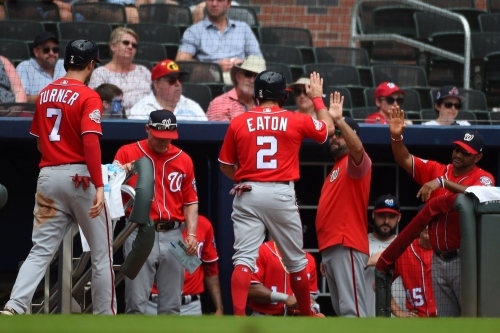 Washington Nationals take 14 walks, take second of three in Atlanta, 7-1 over Braves