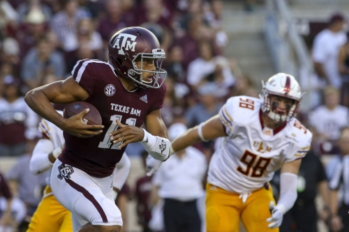 Texas A&M bounces back in 48-10 rout UL Monroe