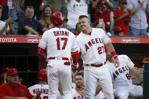 Despite homers from Mike Trout, Shohei Ohtani and two from Justin Upton, Angels blow lead against Mariners