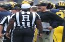 Michigan football's Jim Harbaugh displeased with penalties