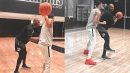 Jayson Tatum works out with Penny Hardaway