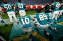 National anthem protest: Miami Dolphins take a knee before game against New York Jets
