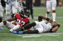 Panthers' comeback bid falls short as they lose to the Falcons 31-24