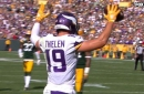 Adam Thielen makes wild touchdown catch and Stefon Diggs pulls in 2 pt conversion to force OT