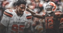 Browns DE Myles Garrett reacts to Cleveland releasing Josh Gordon