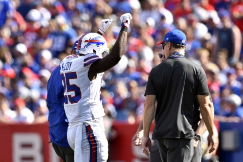 McCoy suffered fractured ribs in Sunday's loss