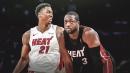 Hassan Whiteside reacts to Dwyane Wade's return to Heat