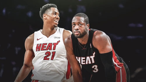 Hassan Whiteside reacts to Dwyane Wade's return to Heat