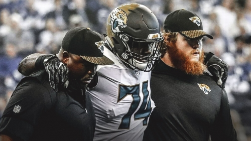 Jaguars LT Cam Robinson out for the season with torn ACL