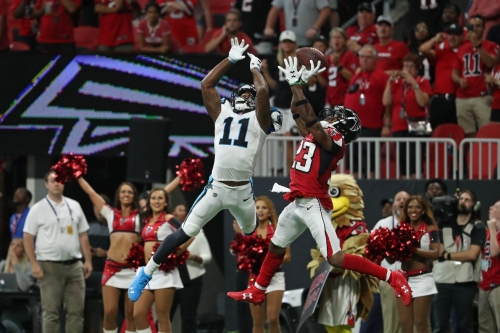 Panthers wide receivers coach Lance Taylor has some explaining to do