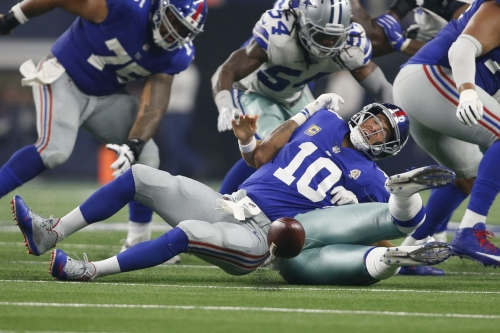 Giants at Cowboys: Snaps and stats from the Giants' embarrassing loss