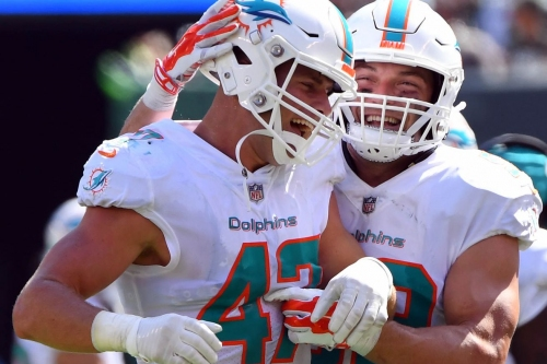 Dolphins leading the AFC East