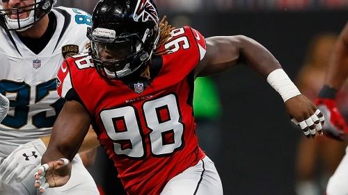 Falcons' defensive end Takk McKinley has a groin injury