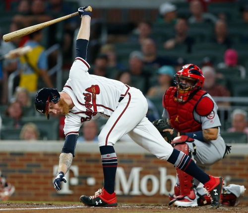 Braves walk their way to third-straight loss, magic number decreases anyway
