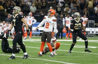 Browns release K Gonzalez, sign rookie Joseph after Sunday's debacle
