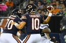 Mitch Trubisky settles down after two first-half INTs in Bears' victory over Seahawks