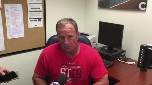 Riggleman talks offensive struggles, Anthony DeSclafani start in Cincinnati Reds' loss