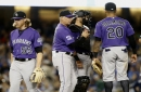 Dodgers blow up Jon Gray, Trevor Story exits due to injury in disastrous series-opening loss for Rockies