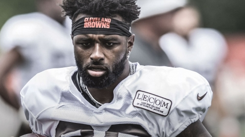 Browns WR Jarvis Landry limited at practice due to knee injury