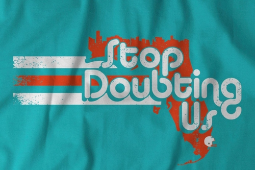 It's back! The 'Stop Doubting Us' t-shirt is available again!