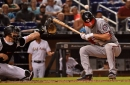 Nationals 4-2 over Marlins for split in Miami: Stephen Strasburg Ks 11; Bryce Harper walks five times...