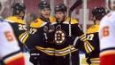 DeBrusk scores twice as Bruins sweep Flames in China