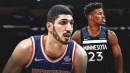 Enes Kanter reacts to Jimmy Butler's trade request