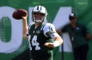 Sam Darnold's two interceptions against the Dolphins showed conflicting examples of rookie inexperience, veteran type savvy