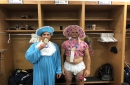 Oh, baby! It's Rays rookie dress up day