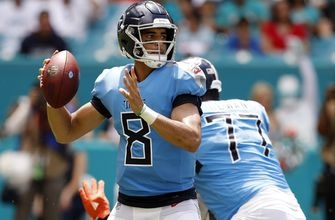 Titans' Mariota still dealing with weakness in throwing hand