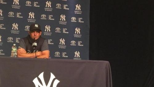 Yankees manager Aaron Boone on Aroldis Chapman's return