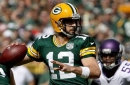 Rodgers sore, still not practicing as matchup with Redskins awaits