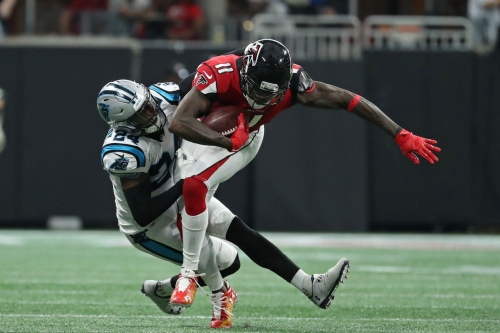 Falcons injury update: Julio Jones eases concerns about calf; DEs McKinley, Shelby still out