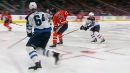 McDavid steals puck from Jets, sets up Nugent-Hopkins' goal