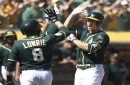 A's set season-high run total and lower magic number in destruction of Angels
