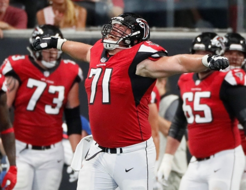 Falcons' new/old blocker is a quiet, brainy guy