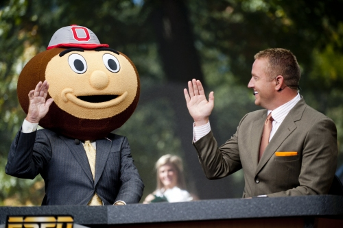 ESPN's College GameDay following the Ohio State Buckeyes again