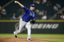67-92 - Rangers three-hit Mariners in brisk 2-0 shutout victory