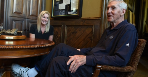 Legendary coach Jerry Sloan is enjoying the Jazz's playoff run, but the slow fade of dementia is taking a toll