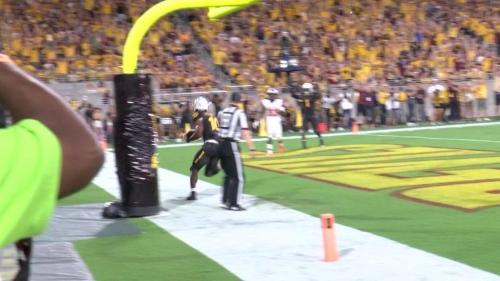 ASU's Manny Wilkins throws touchdown pass to Kyle Williams
